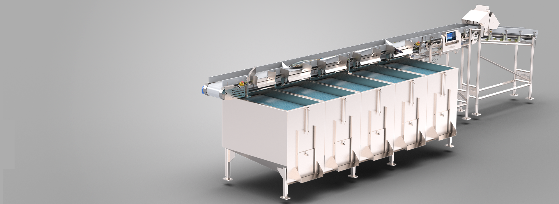 The MARELEC I Vision uses an intelligent algorithm to recognize different species of fish.
